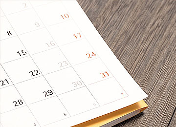 calendar of day trips